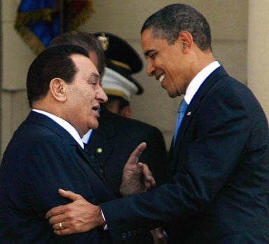 The Struggle for Self Determination in the Arab World: The Alliance between Arab Dictators and Global Capital  Mubarak%20and%20Obama