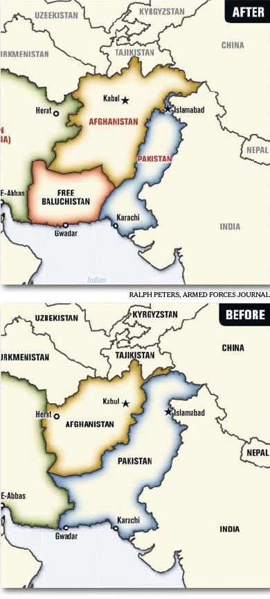 Maps of before and after