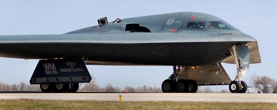 The USAF B-2 Spirit Stealth Bomber: