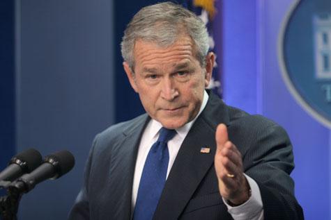 george w bush book upside down. George W. Bush
