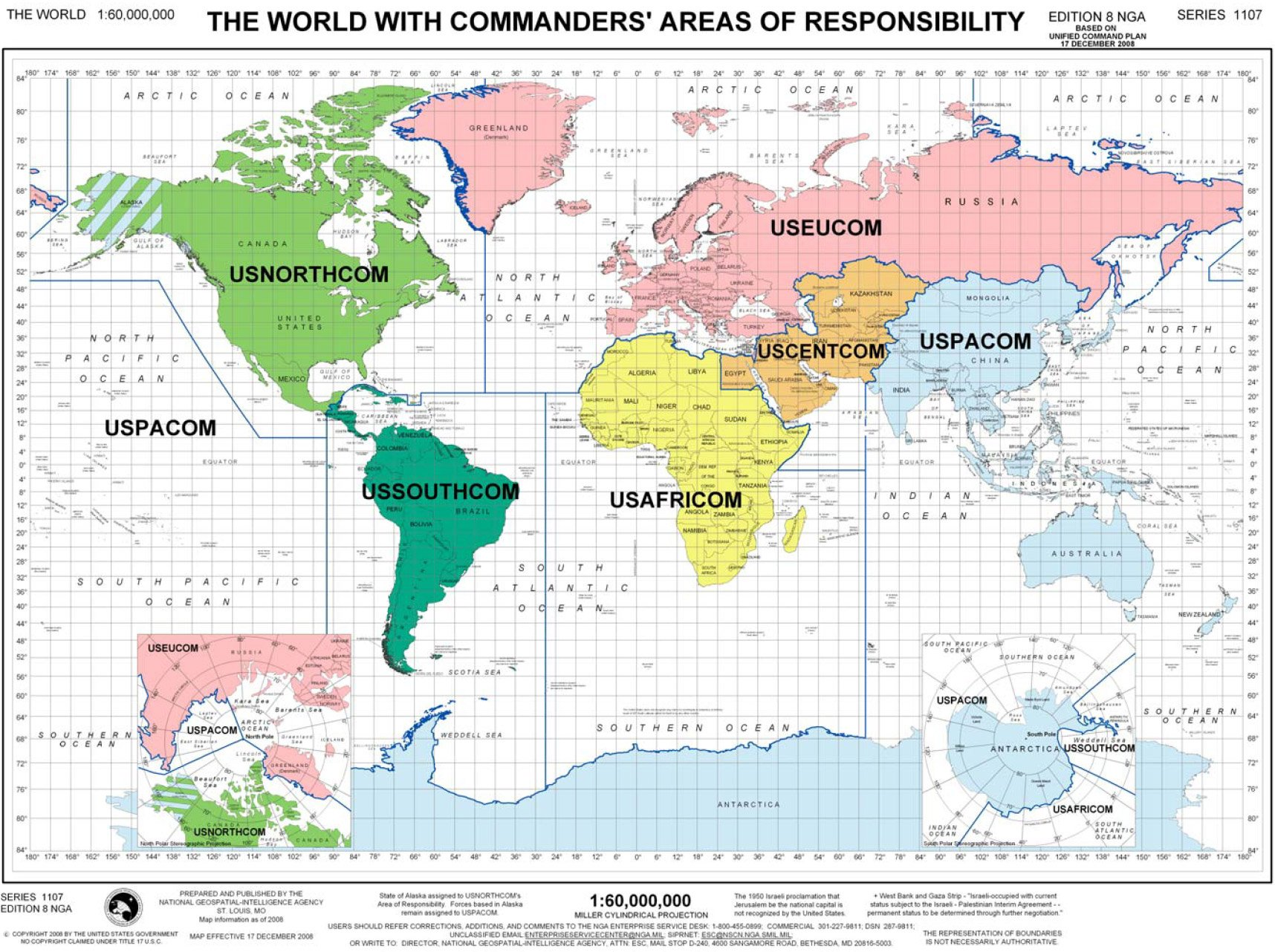 Preparing for World War III, Targeting Iran unified command world map1
