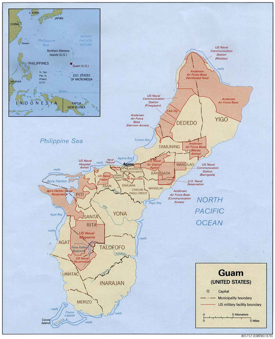 American Military Bases on Guam The US Global Military Basing