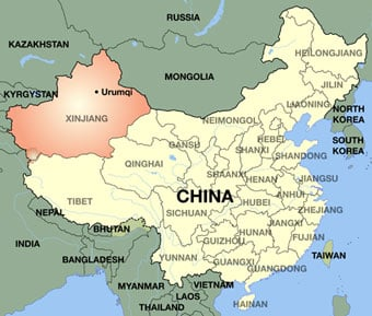 Map Of China In Asia.The Uyghur Militant Threat China Cracks Down And Mulls Policy