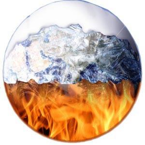 Conflicting Views on Climate Change: Fire and Ice