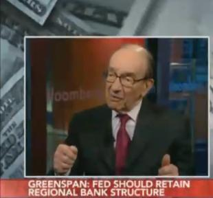 "VIDEO: Alan Greenspan: The Financial Crisis was Caused by a ""Once-in-a-Century"" Event"