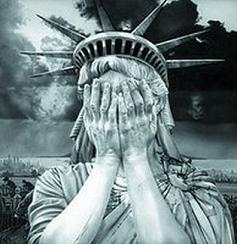 shattered american dreams crying statue of liberty globalresearch.ca