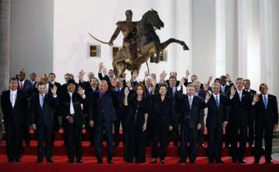Western Hemisphere: 33 Latin American countries to form a New Bloc. U.S. and Canada not invited