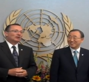 Feltman and Ban Ki-moon