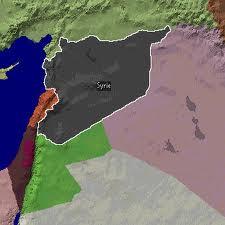 Syrie carte régionale