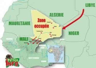 Algérie Mali carte