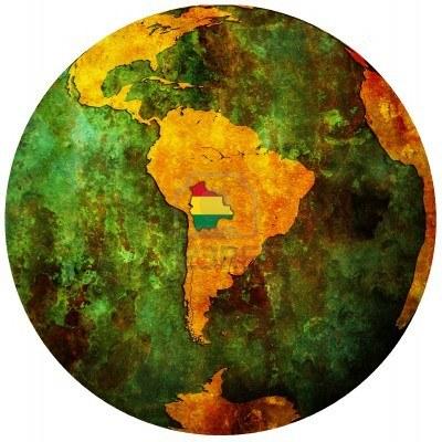 Carte Bolivie monde