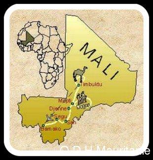 Mali carte crise réfugiés