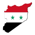 Syrie carte drapeau 2