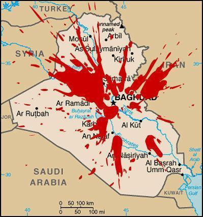 War Crimes Iraqs Red Crescent Under Attack Complicity Of US - Map showing us and iraq