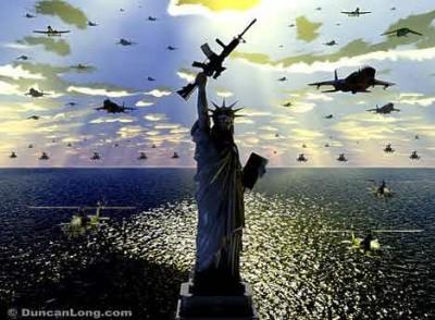 liberty statue gun