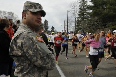boston marathon soldier