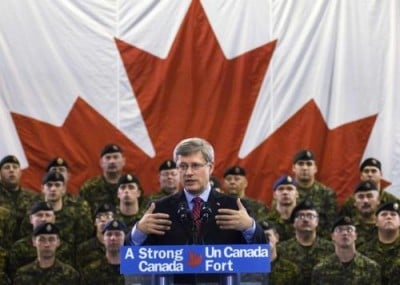 Harper Promotes Canadian Militarism