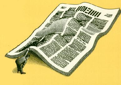 under newspaper