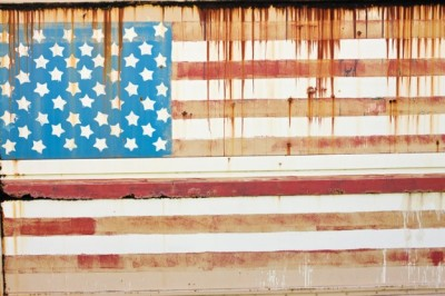 us flag fading