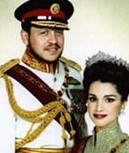 King Abdullah and wife (no dignity)