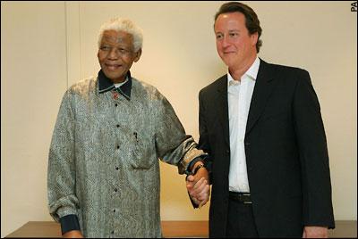 au revoir Nelson... Cameron-mandela