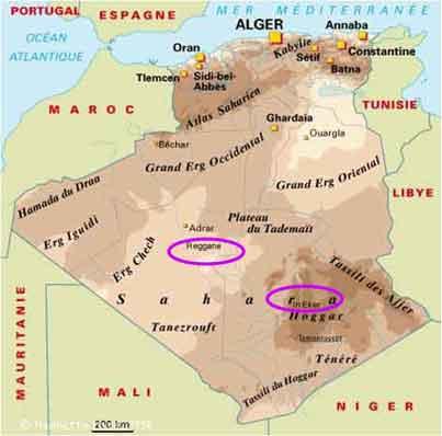 Carte Algerie Reggane.Le Sahara En Danger Vastes Zones Contaminees Par Les