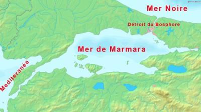 Mer Noire et détroit de Bosphore