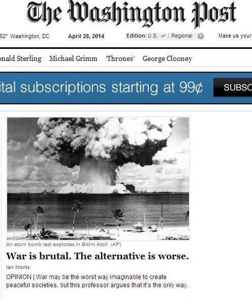 «La guerre c'est la paix, elle nous enrichit et accroît notre sécurité»… Washington-post-nonsense-war-is-peace-small