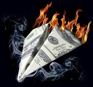 Dollar en feu