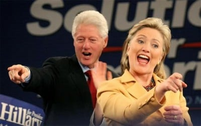 clintons pointing