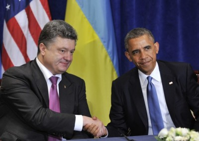 Barack Obama meets with Petro Poroshenko