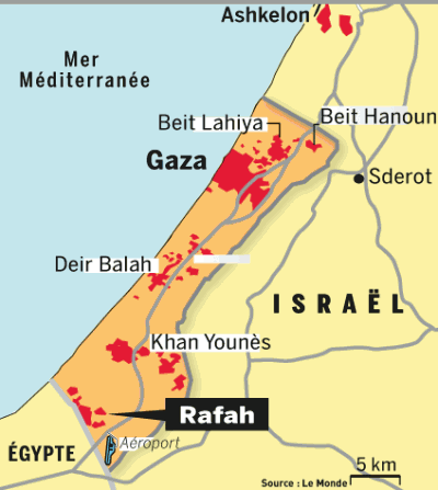 Gaza carte