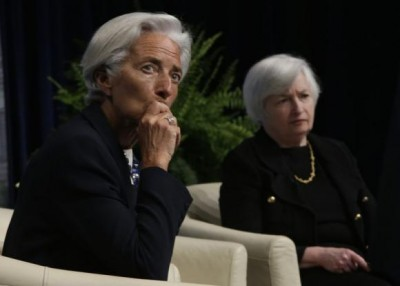 IMF Managing Director Lagarde and U.S. Federal Reserve Board Chair Yellen have a question and answer period at the inaugural Michel Camdessus Central Banking Lecture in Washington