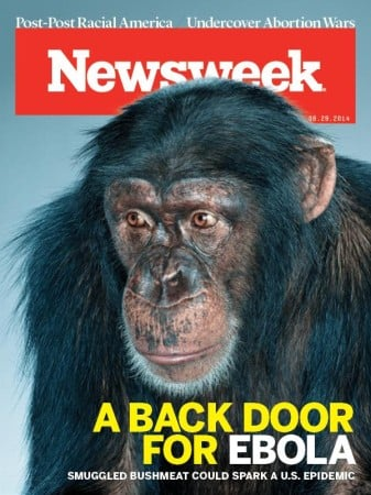 Newsweek's Dehumanization of Africans and Monkey Meat Ebola Fearmongering