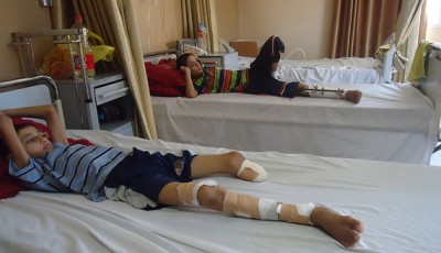 al-monitor wounded gazan children in hospital