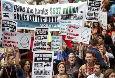 Protest Advocate Water Access Is Basic Right, After City Of Detroit Starts Cutting Service