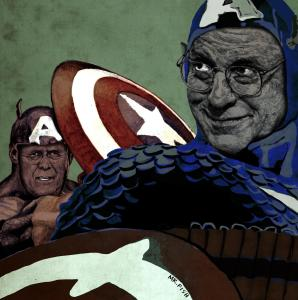 Captains-America-Dick-Cheney-and-Donald-Rumsfeld-rigged-to-self-destruct.-By-Mr.-Fish1-298x300