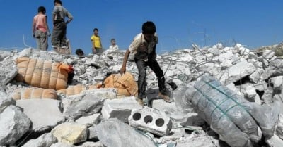 rubble syria bombing us