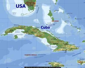 US And Cuba Map Cuba And USA Map BBC GCSE Bitesize Causes Summary - Cuba and us map