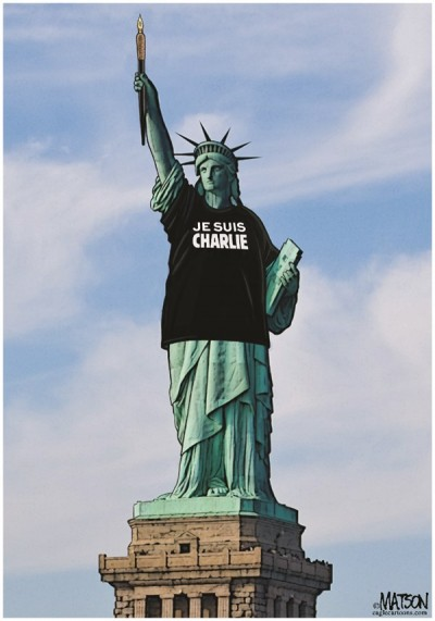je suis charlie statue lberte