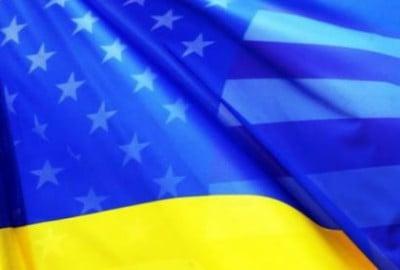 Ukraine-USA-drapeaux