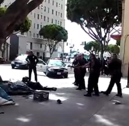 Video Shows Execution-style Murder of Homeless Man by Los Angeles Police