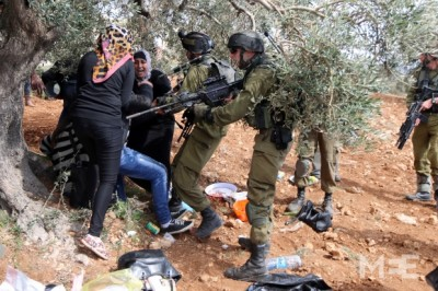 palestinian activist attacked by israeli soldiers