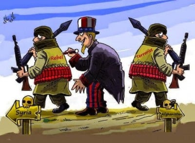 Image result for Washington VS Syrian CARTOON