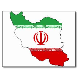Iran carte drapeau