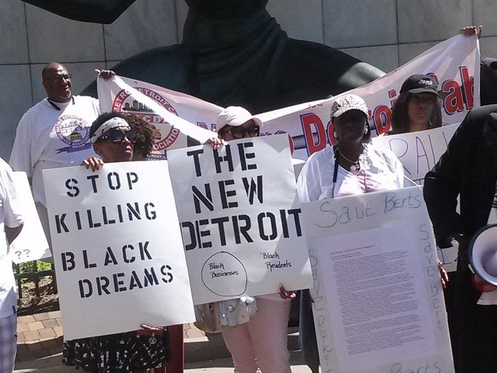 Detroit rally against ethnic cleansing on July 21, 2015 at City Hall