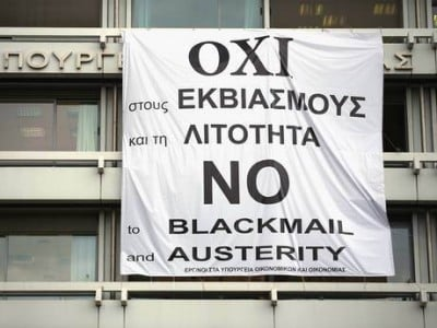 No to blackmail and austerity