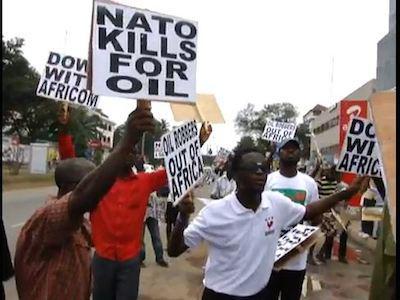 Image result for protest africom