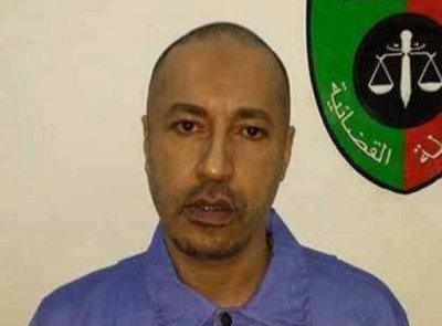 Handout photo shows Saadi Gaddafi, son of Muammar Gaddafi, inside a prison in Tripoli