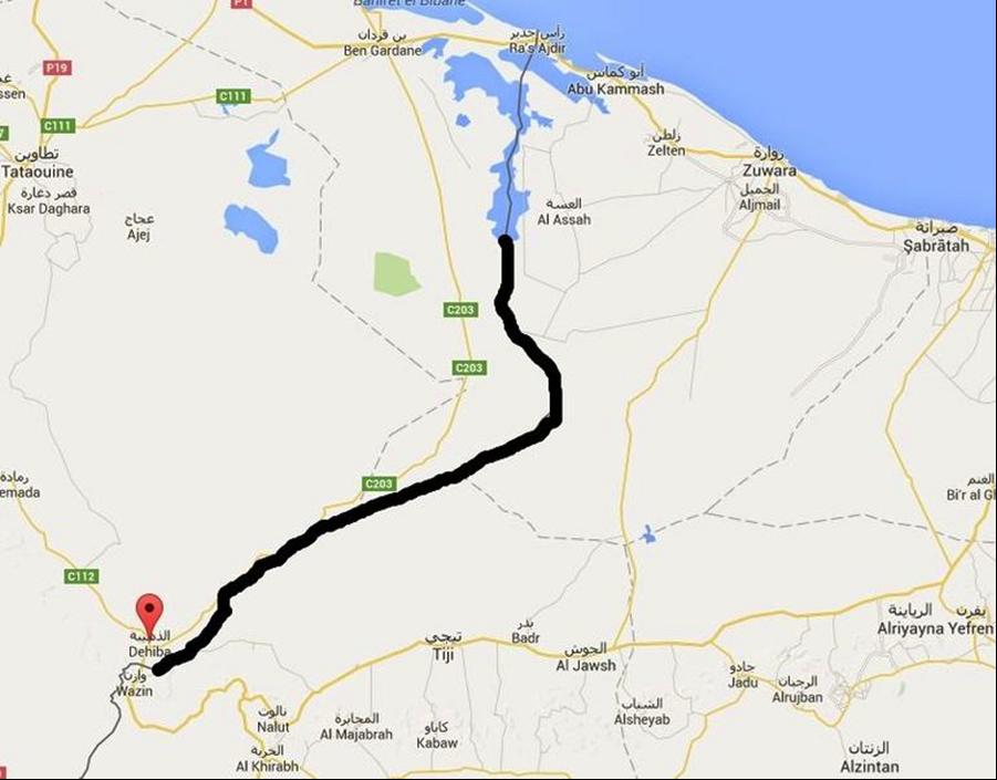 vrai territoire tunisien sur la carte